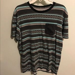 Hurley Graphic Black/Teal Tee Size Large